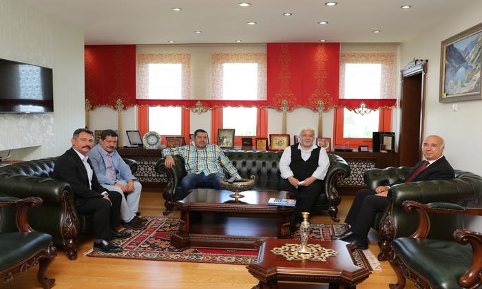 Niğde POMEM Müdürü ve Polis Akademisi Öğretim Üyelerinden Ömer Halisdemir Üniversitesi Rektörlüğüne Ziyaret
